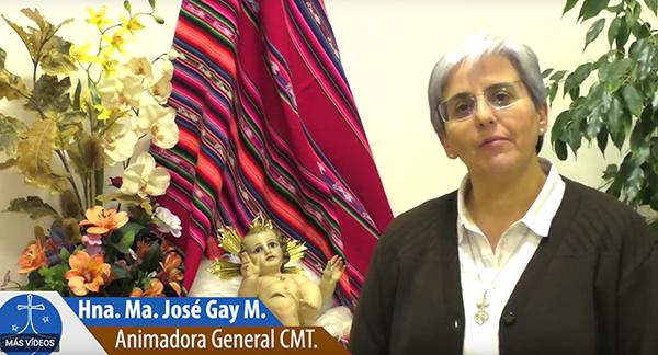 Nueva Web congregacional y mensaje de la Animadora General, Mª José Gay, cmt